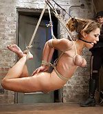 Beauty is subjected to intense bondage predicaments