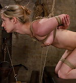 Nipple bondage, boot licking, boot fucking and slut service