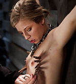 Roped and made to endure her torment