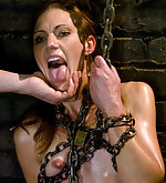 Chained, pegged, roped and trained to lick