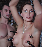 Milf stripped, tied up, whipped, pegged and used