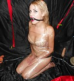 Blonde slave in humiliating bdsm erotic show