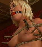 She is tied in inescapable bondage and fucked