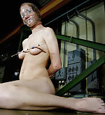 Lola plastic masked and nipples tortured